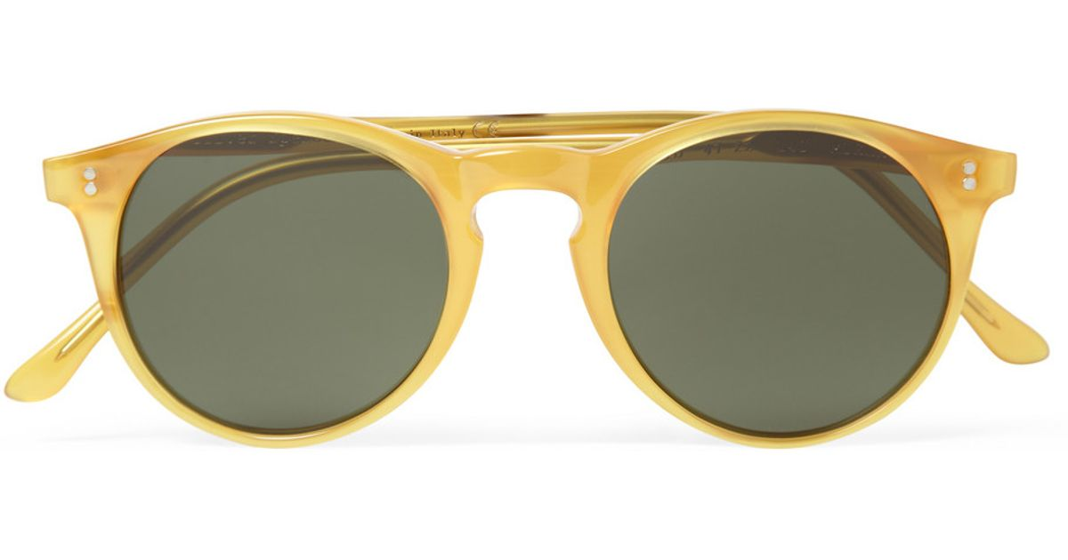 5ceaeb41a1ad9 Oliver Spencer Sid Roundframe Acetate Sunglasses in Yellow for Men - Lyst