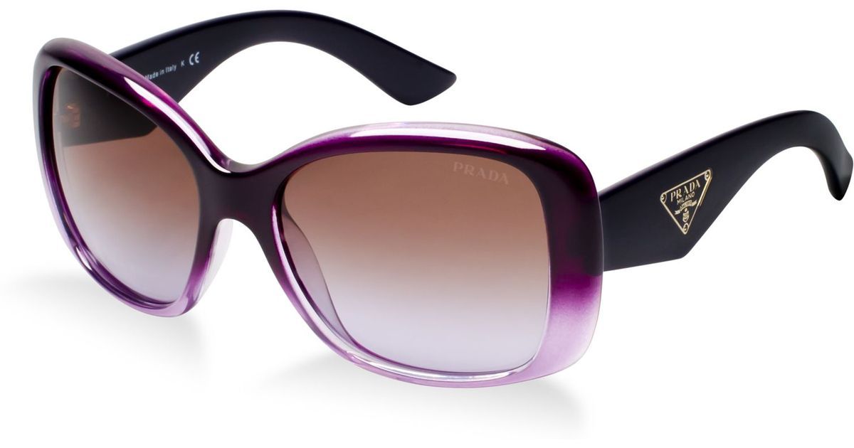 087d5448e0 ... where to buy lyst prada sunglasses pr 32ps in purple adbac 3de16
