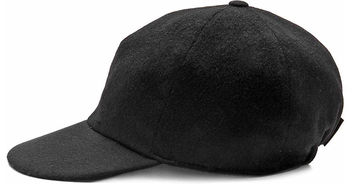 efc46e07043 Lyst - Borsalino Cashmere Baseball Cap in Black for Men