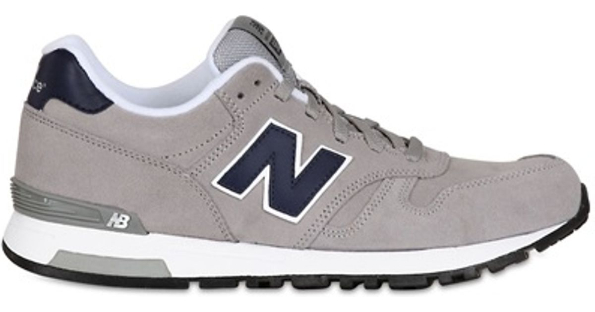 Lyst - New Balance 565 Classic Suede Sneakers in Gray for Men 35c07b5f20f