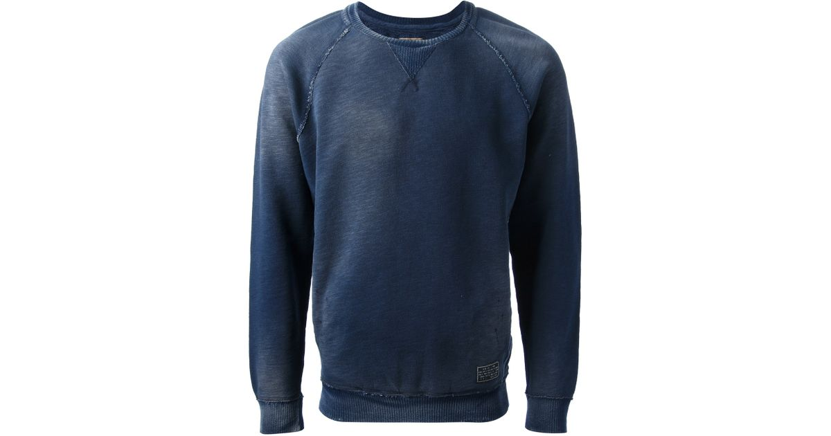 7ab076e24 DIESEL Faded Sweatshirt in Blue for Men - Lyst
