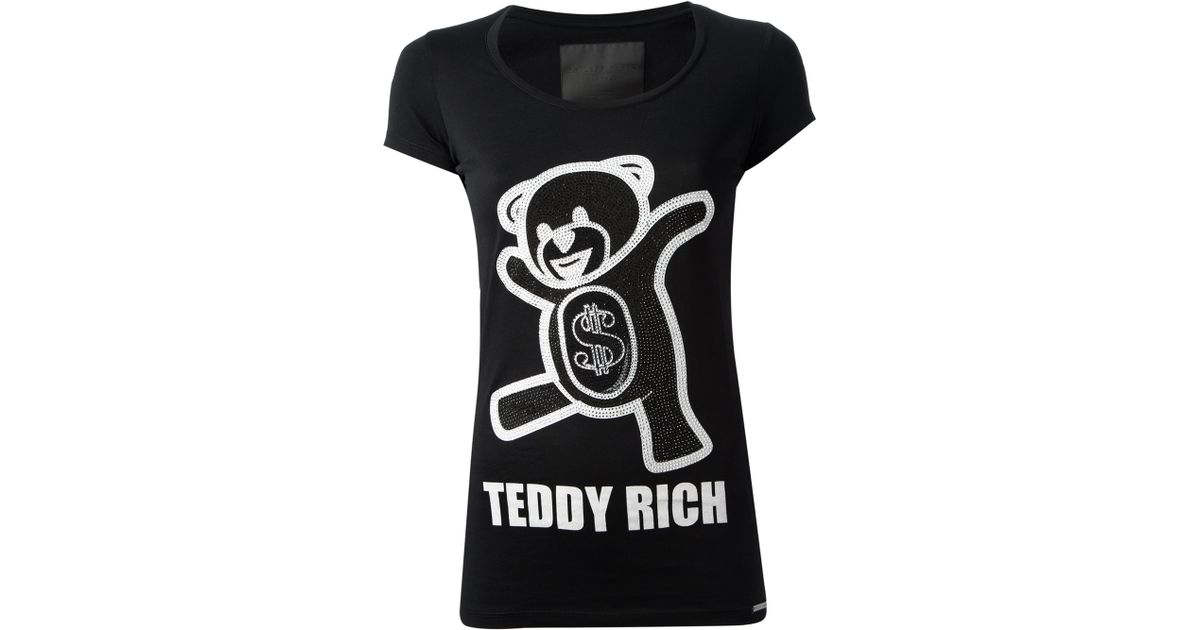 2e3053c8c07 Philipp Plein Teddy Rich Tshirt in Black - Lyst