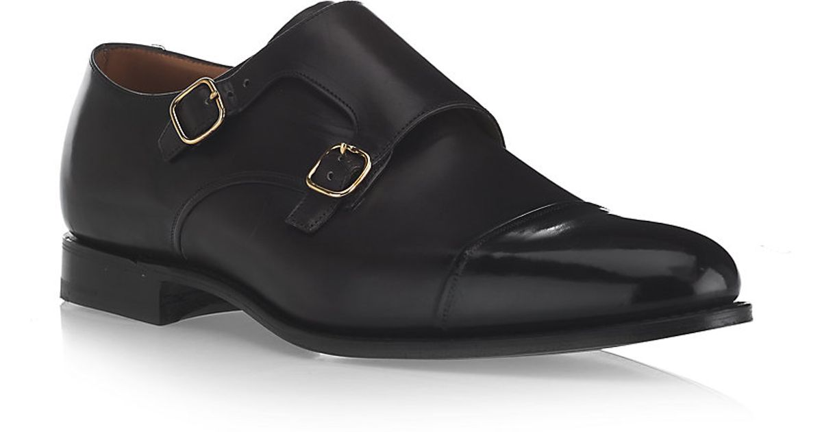 cb0adfdb1250d Church's Burghley Monk Shoe in Black for Men - Lyst