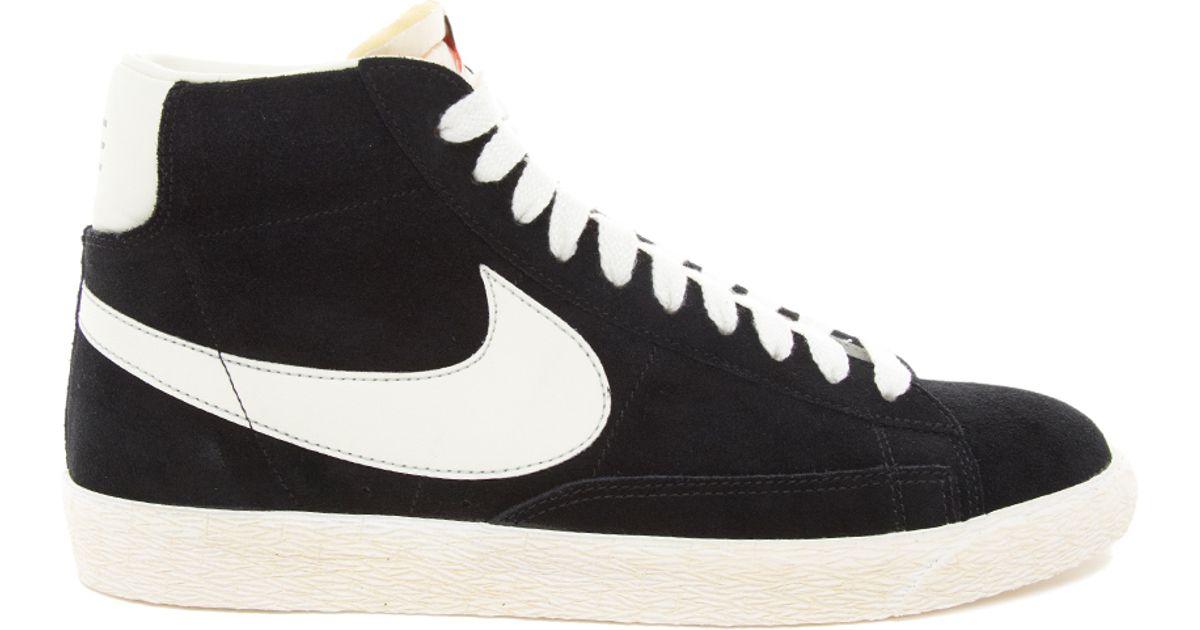 buy online 2df2f 38d32 Nike Blazer Hi Vintage Suede Sneakers in Black for Men - Lyst