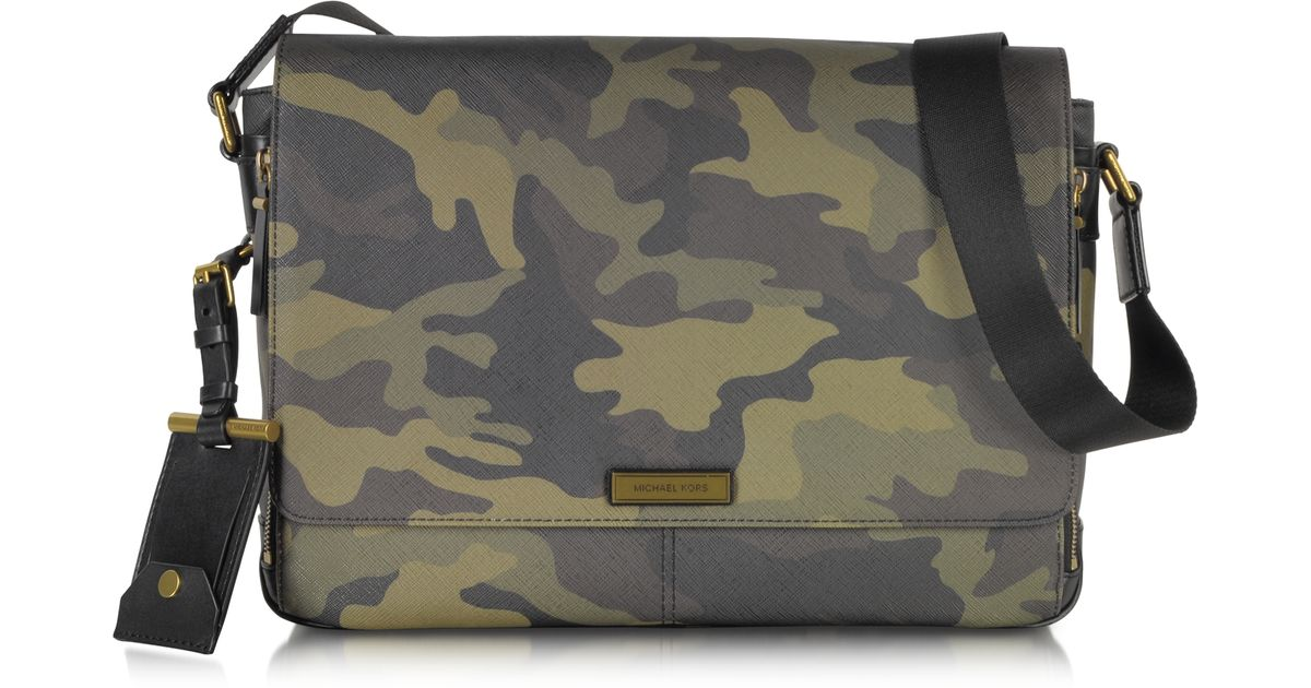 badddbe5e193 Lyst - Michael Kors Jet Set Camo Large Mens Bag in Natural for Men