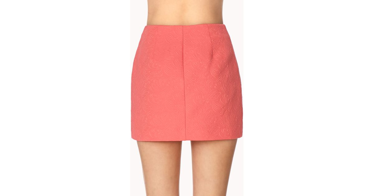 Lyst Forever 21 Fancy Origami Skirt In Pink