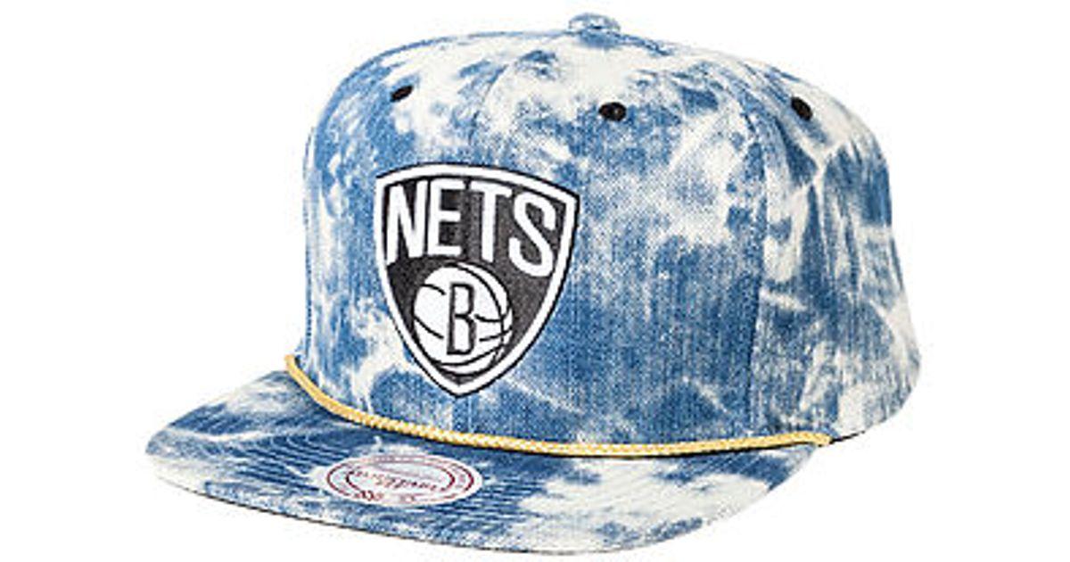super popular 8e3e4 a1451 ... nba all color acid wash snapback cap black 20935888 7d0da e347e  canada  lyst mitchell ness the brooklyn nets acid wash snapback hat in blue for men  ...