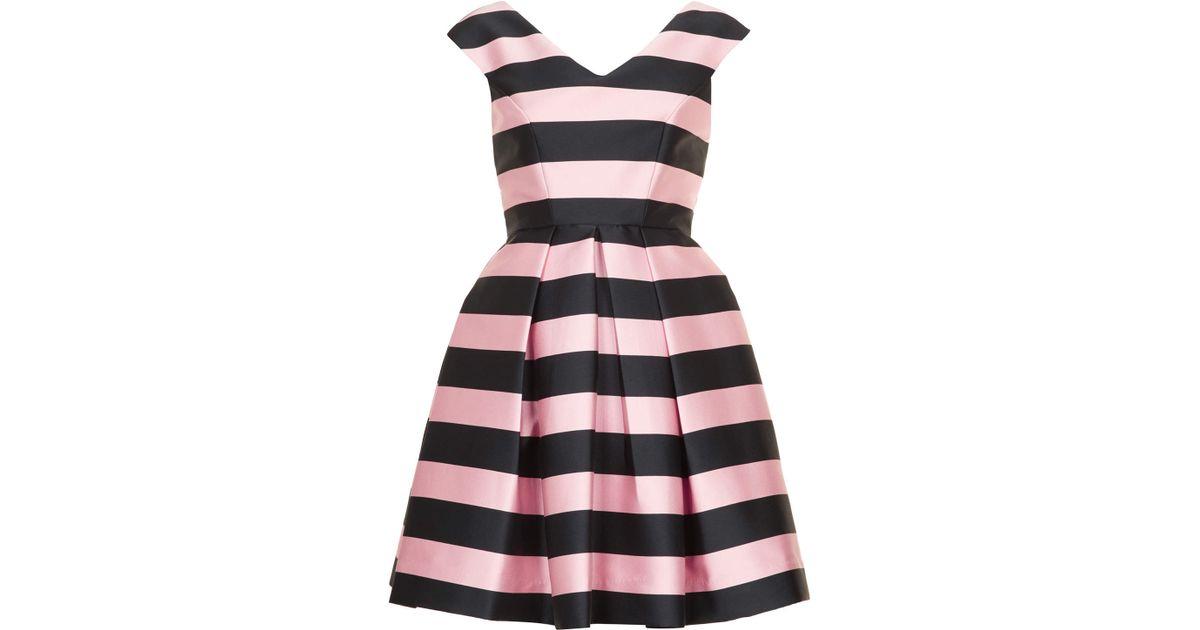 Lyst - Topshop Stripe Prom Dress