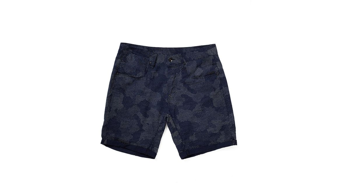 star raw g star a crotch yoshem shorts in gray for men blue lyst. Black Bedroom Furniture Sets. Home Design Ideas