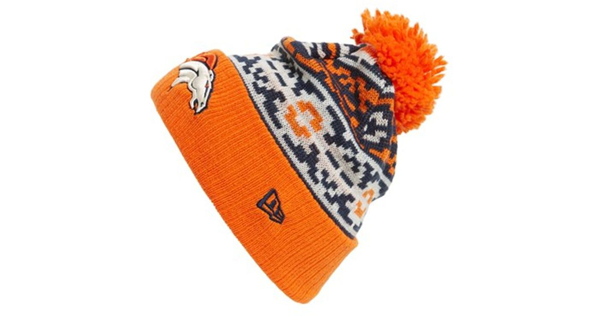 aa7fc8f846827 ... czech lyst ktz retro chill denver broncos knit hat in orange for men  16a70 f25c7