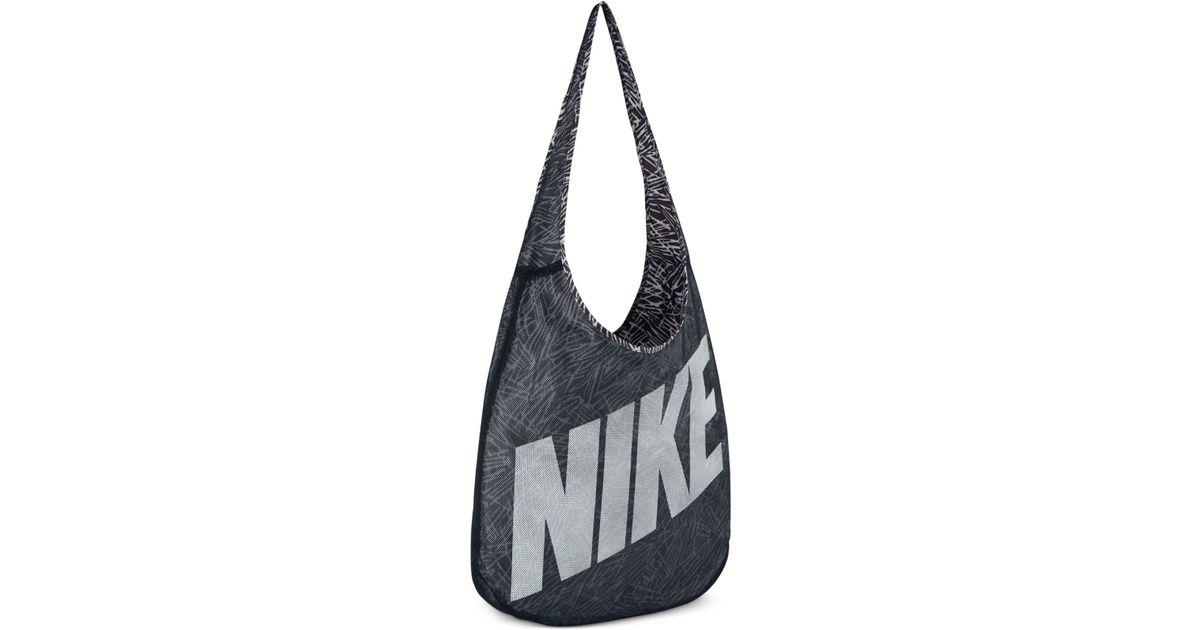 d4486e95ba Nike - Gray Graphic-print Tote Bag - Lyst