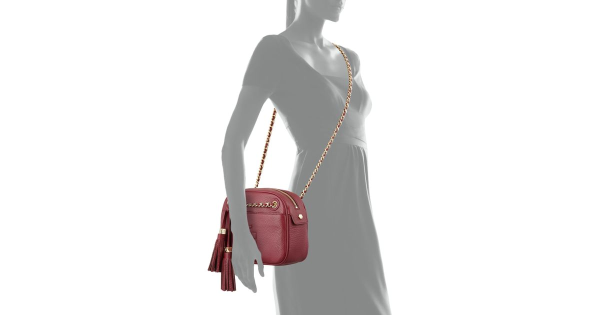 a69038e26b1 Lyst - Tory Burch Thea Chain-Strap Crossbody Bag in Red