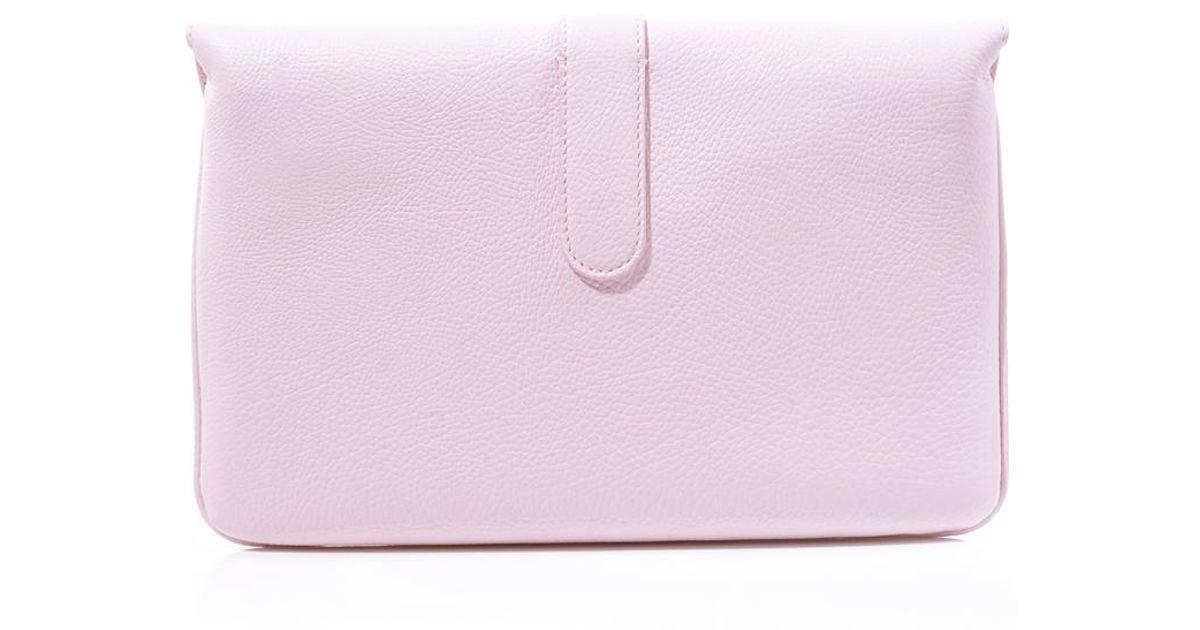 761a0279a749a Lyst - Balenciaga Tube Pochette Envelope Clutch in Pink
