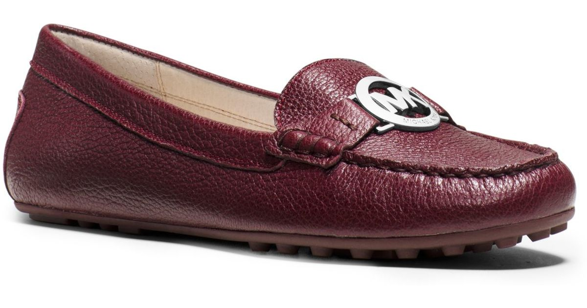 eb4f7fcf69f Lyst - Michael Kors Molly Leather Loafer in Red