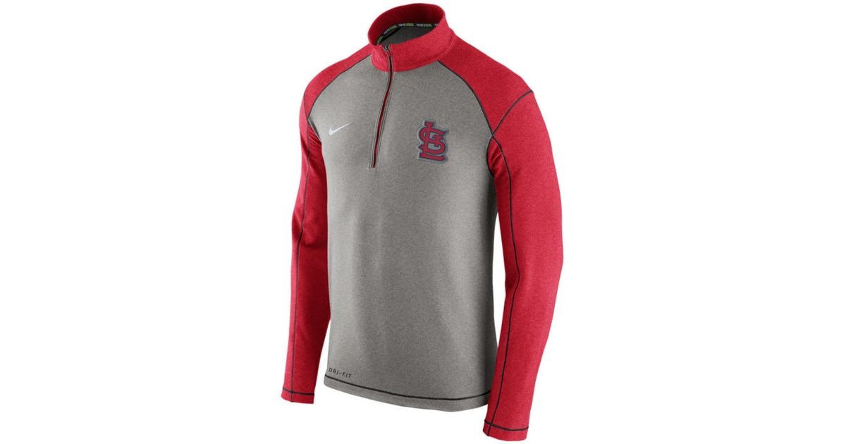 Nike Men's St. Louis Cardinals Dri-fit Touch Half-zip Pullover in ...