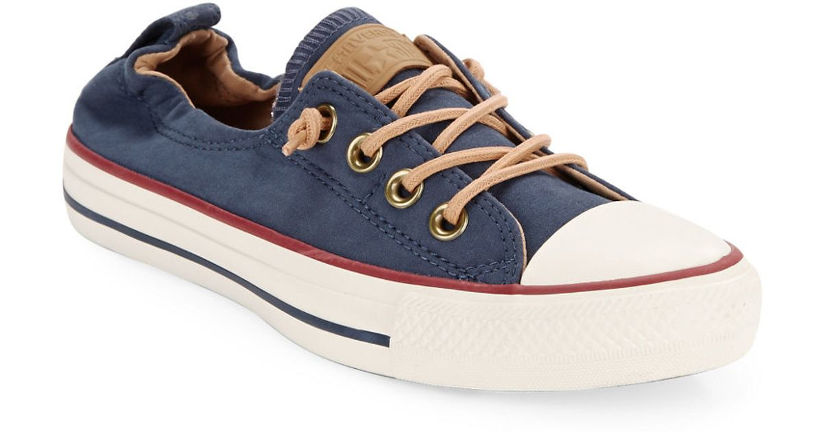 a60ad400855a32 ... order converse lace up sneakers in blue lyst 133c4 e20dc