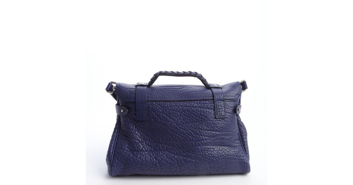 9b573d318160 ... netherlands lyst mulberry indigo pebbled leather alexa satchel bag in  blue 99146 958da