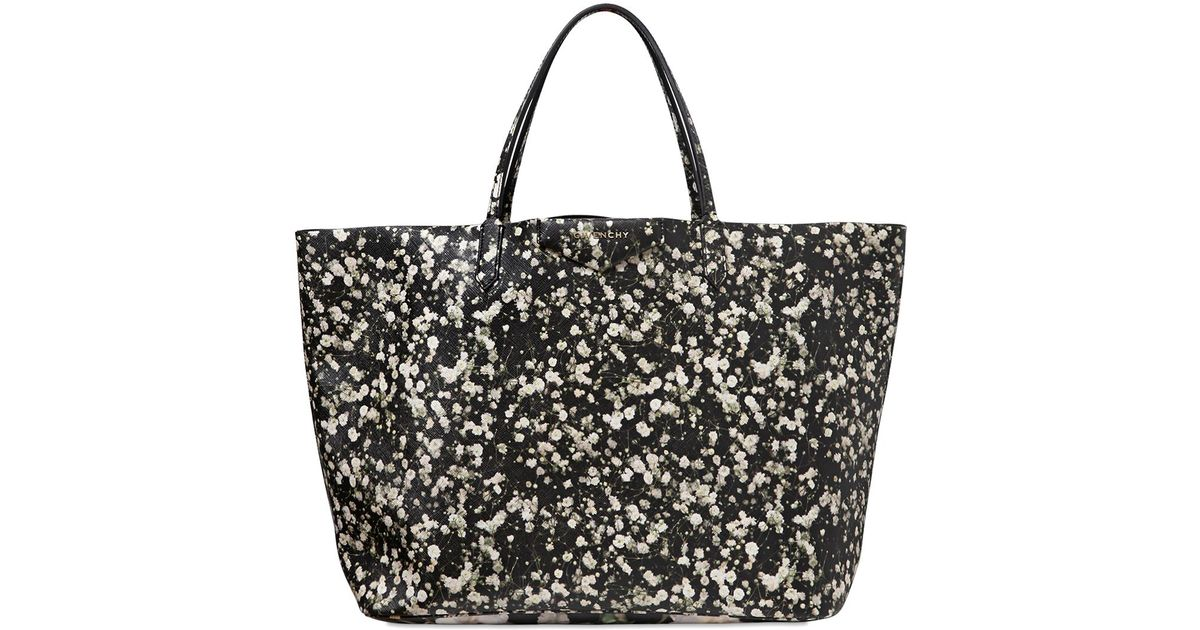 de416bd688 Lyst - Givenchy Large Antigona Floral Printed Tote Bag in Gray