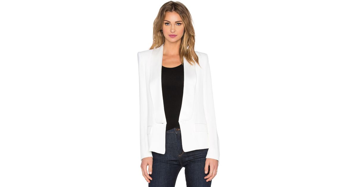 a1fc117264 Lyst - Rachel Zoe Satori Blazer in White