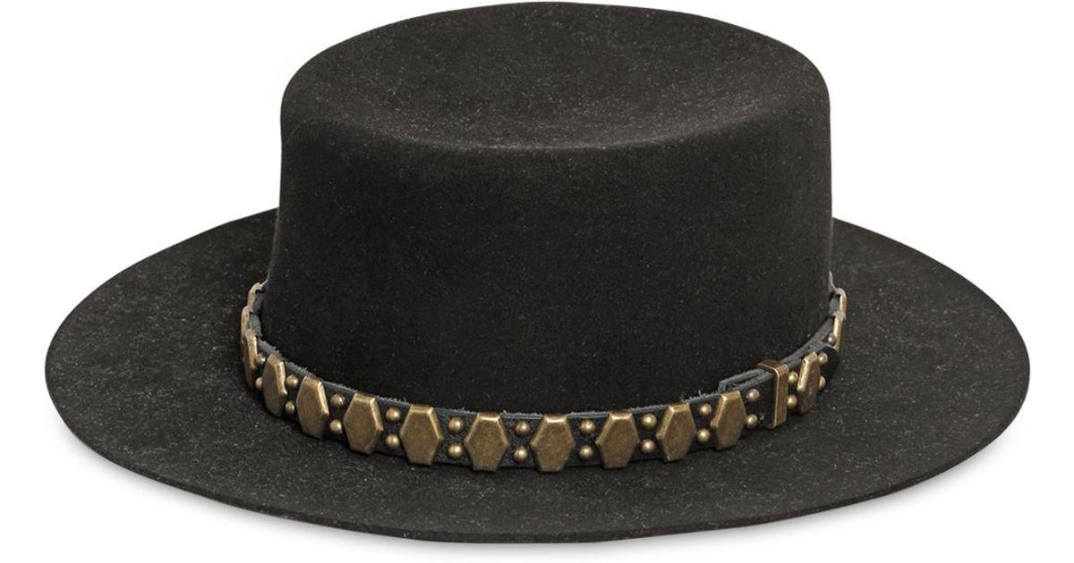 Lyst - Saint Laurent Studded Felted Lapin Hat in Black for Men 1e632dfe3274