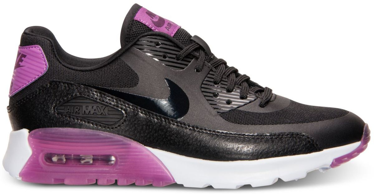 0bca79f93682ef Lyst - Nike Women s Air Max 90 Ultra Essentials Running Sneakers From Finish  Line in Black