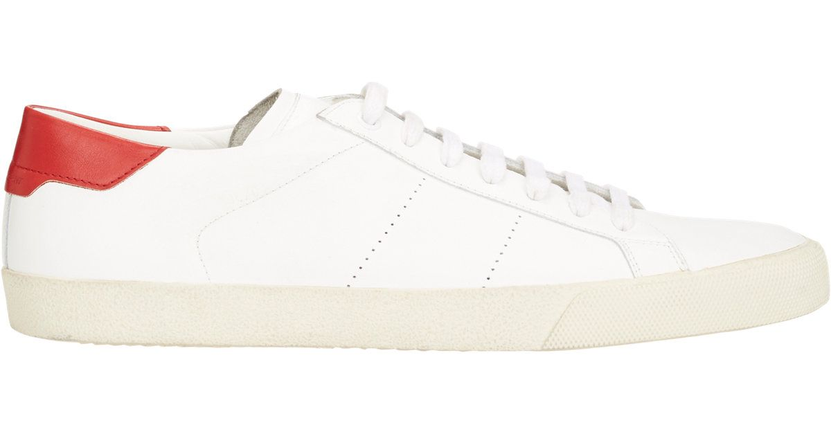 f15bb066a355 Lyst - Saint Laurent Sl 06 Court Classic Sneakers in White for Men