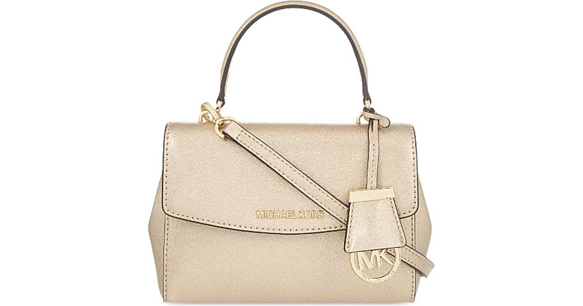 4ed35ecf8 MICHAEL Michael Kors Ava Leather Xs Cross-body Bag in Natural - Lyst