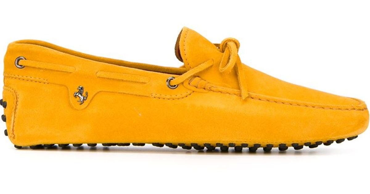 f2aa136b7a5 Lyst - Tod s Ferrari X  gommino  Driving Shoes in Yellow for Men
