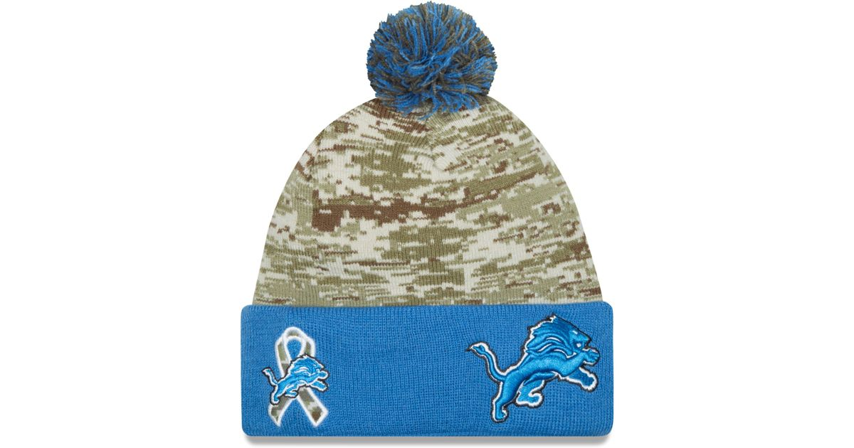 ... usa lyst ktz detroit lions salute to service knit hat in green 48b1d  3089e a54d941ad