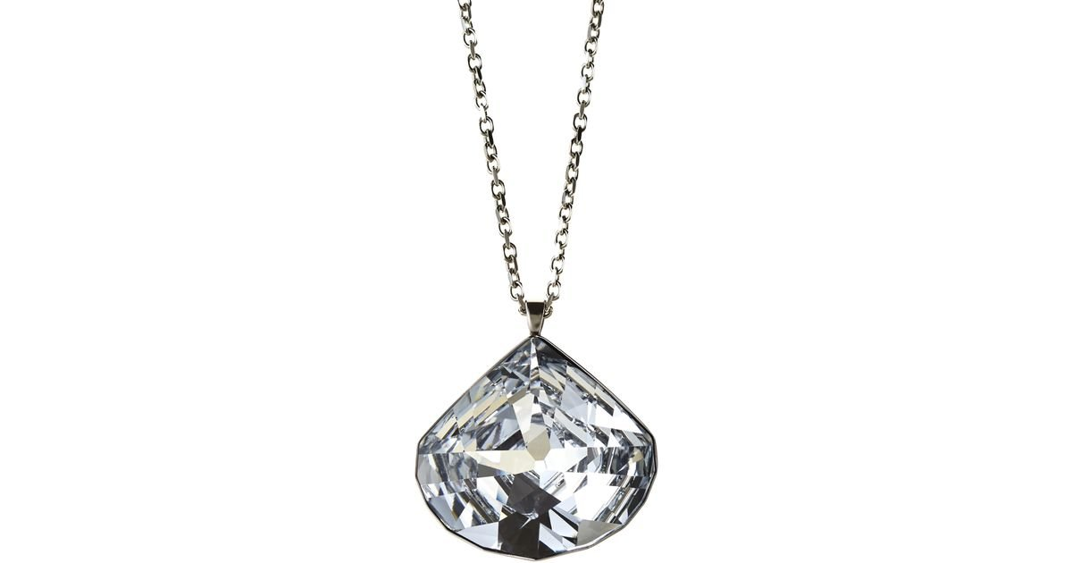 Lyst swarovski crystal pendant necklace in metallic aloadofball Image collections