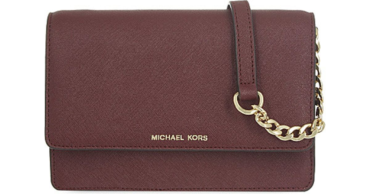 54bc6df36e06aa MICHAEL Michael Kors Daniela Small Leather Cross-body Bag in Brown - Lyst