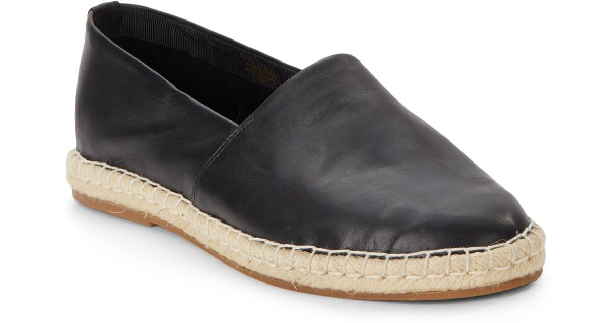6ad0c4f57 Saks Fifth Avenue Bree Leather Espadrilles in Black - Lyst