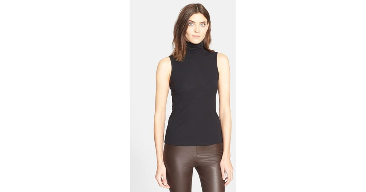 Theory 39 Wendel 39 Sleeveless Turtleneck Top In Black Lyst