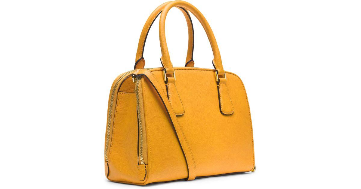 b1f99cbe2448 ... black leather satchel tradesy 53fc6 8e4b8 new zealand lyst michael  michael kors medium reese satchel in orange 20523 861ac ...