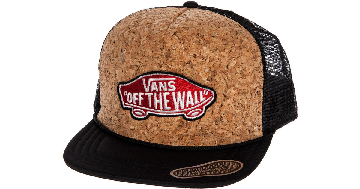 81f5ebb6bf58b3 Lyst - Vans The Classic Patch Trucker Hat in Black for Men