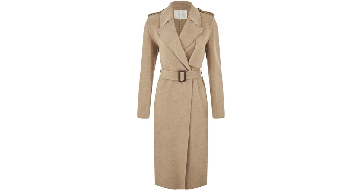 selected women 39 s tana trench coat in beige lyst. Black Bedroom Furniture Sets. Home Design Ideas