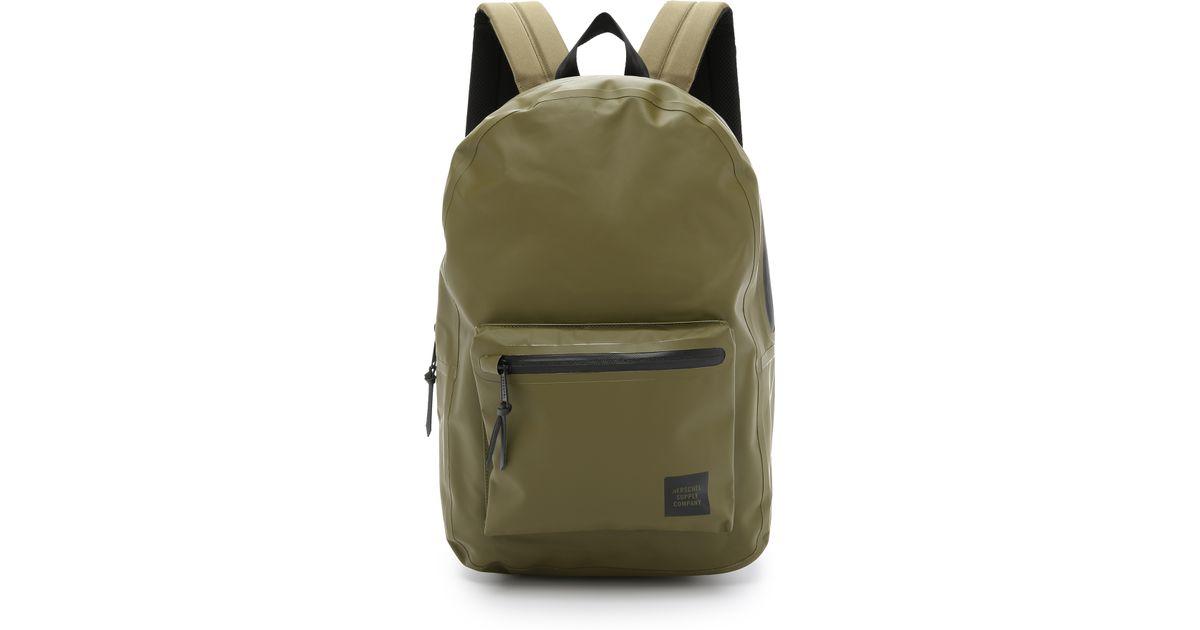 Lyst - Herschel Supply Co. Studio Settlement Tarpaulin Backpack in Green  for Men 4d3be4e344776