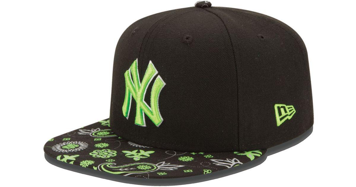 4b26d02cf54 Lyst - Ktz New York Yankees Paisley Time 9fifty Snapback Cap in Black for  Men