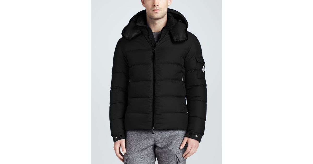 Moncler Himalaya Quilted Down Jacket Black
