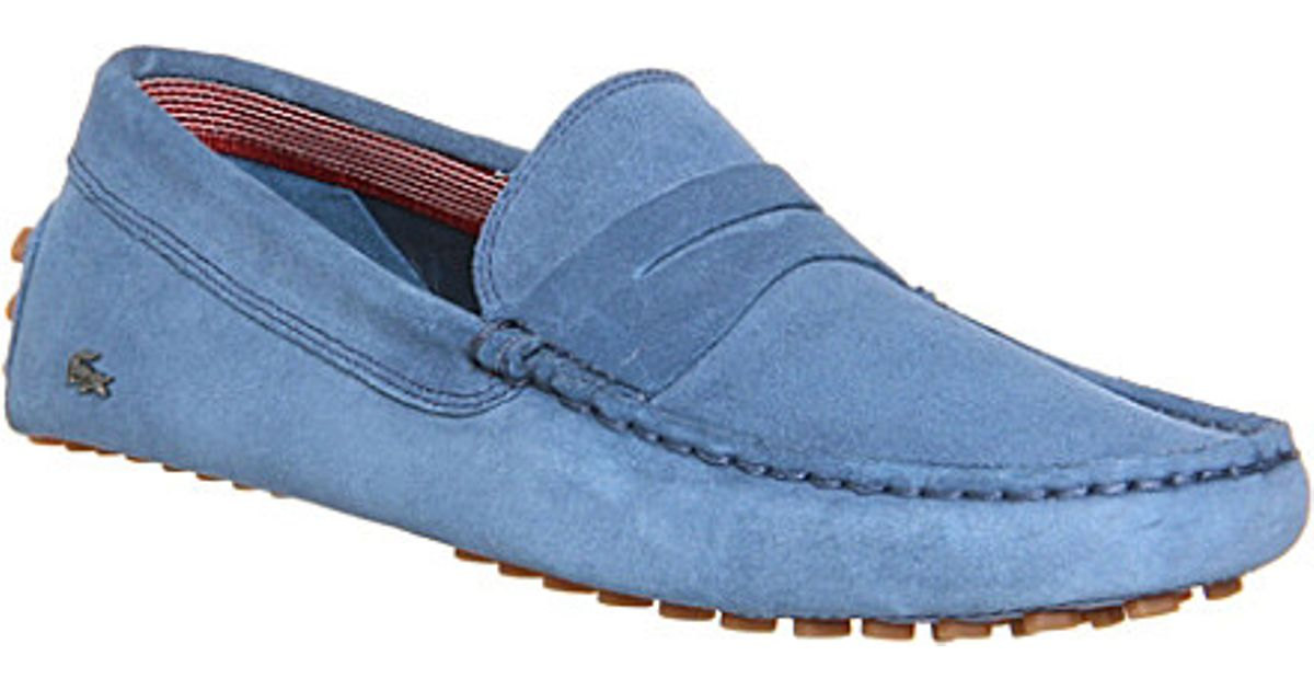 6b40e17a4e760f Lacoste Concours Suede Driving Moccasins - For Men in Blue for Men - Lyst