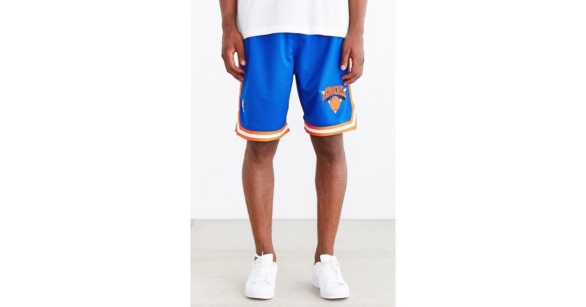 Lyst - Mitchell   Ness New York Knicks Authentic Short in Blue for Men 045398032a30