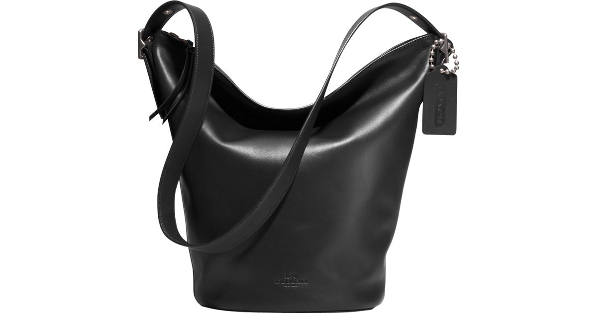 ec8381199502 Coach Bleecker Duffle Bag in Black - Lyst