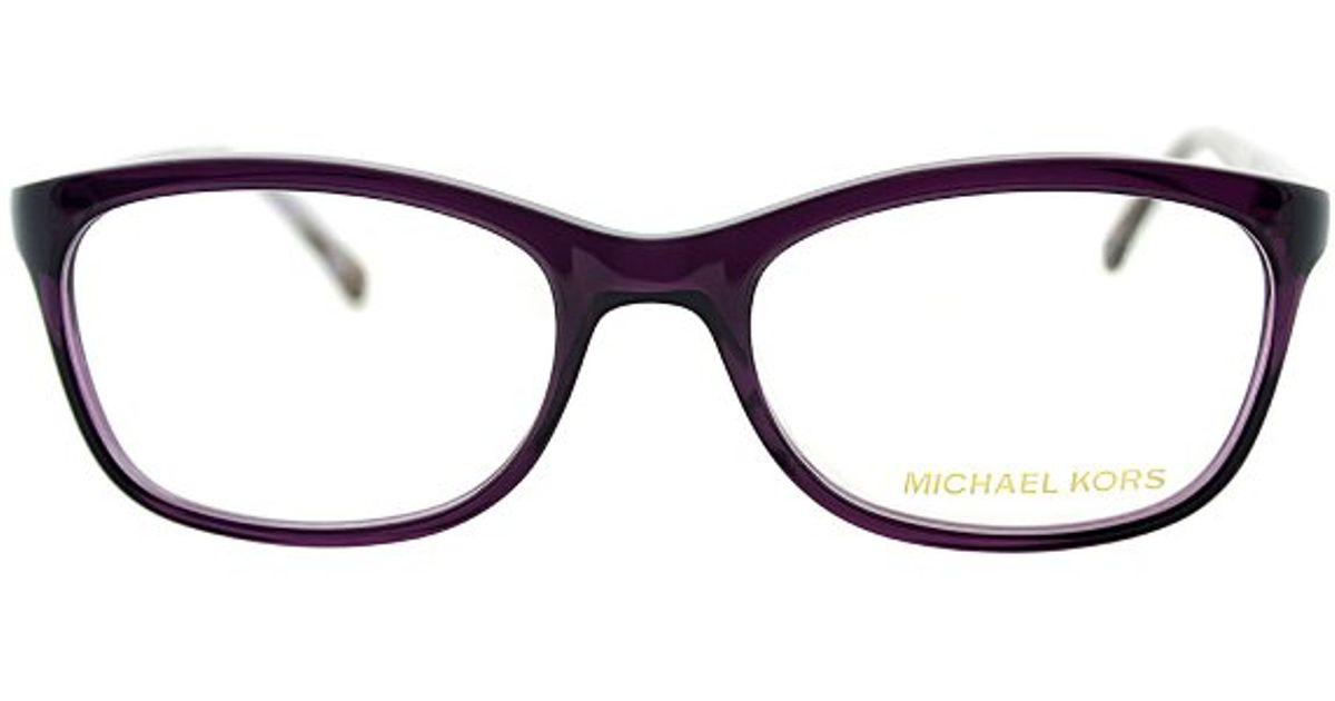 2d709269c821 Lyst - Michael Kors Crete Mk 281 533 Plum Fashion Eyeglasses-52mm in Purple