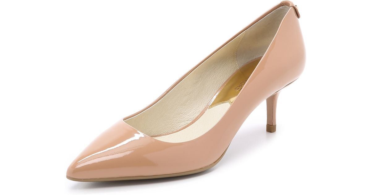Michael Michael Kors Mk Flex Kitten Pumps   Dark Nude In Natural   Lyst