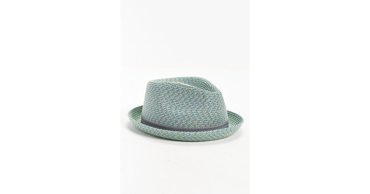 Lyst - Bailey of Hollywood Mannes Mint Straw Fedora Hat in Green for Men 9a28eb8f8f6