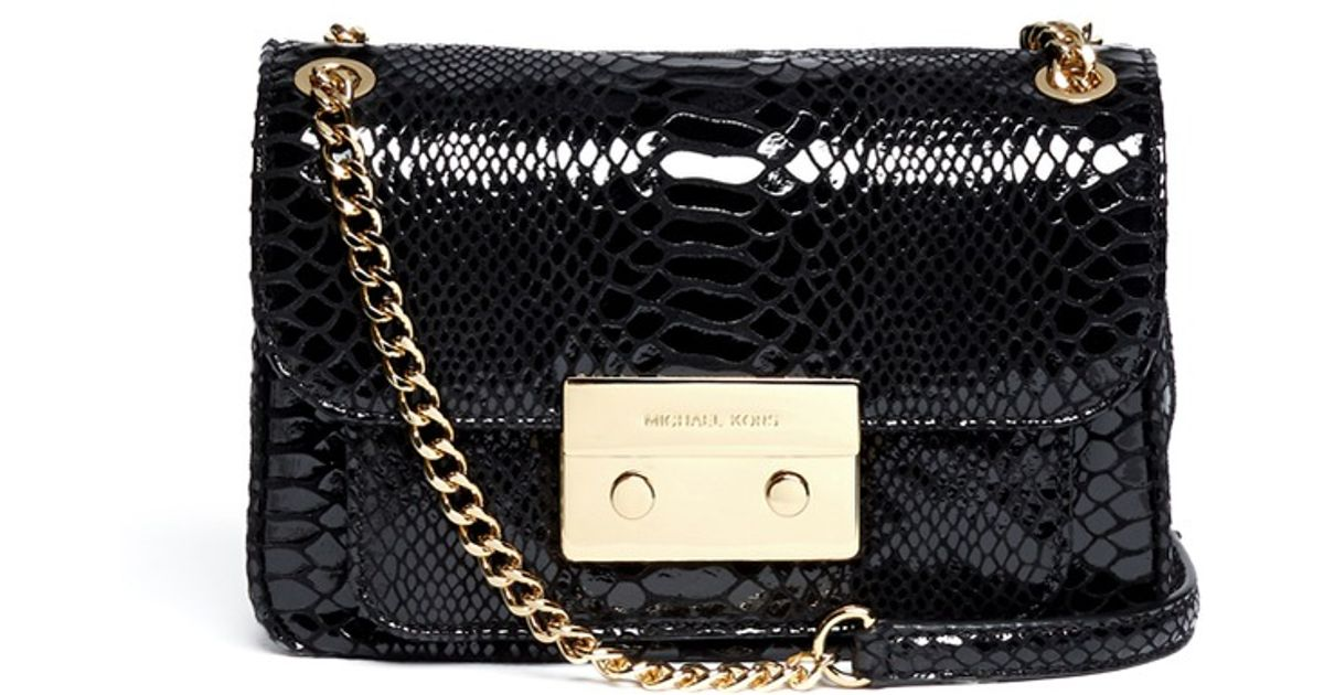 3c05073b8bceb Michael Kors Miranda Flap Crossbody Bag in Black - Lyst
