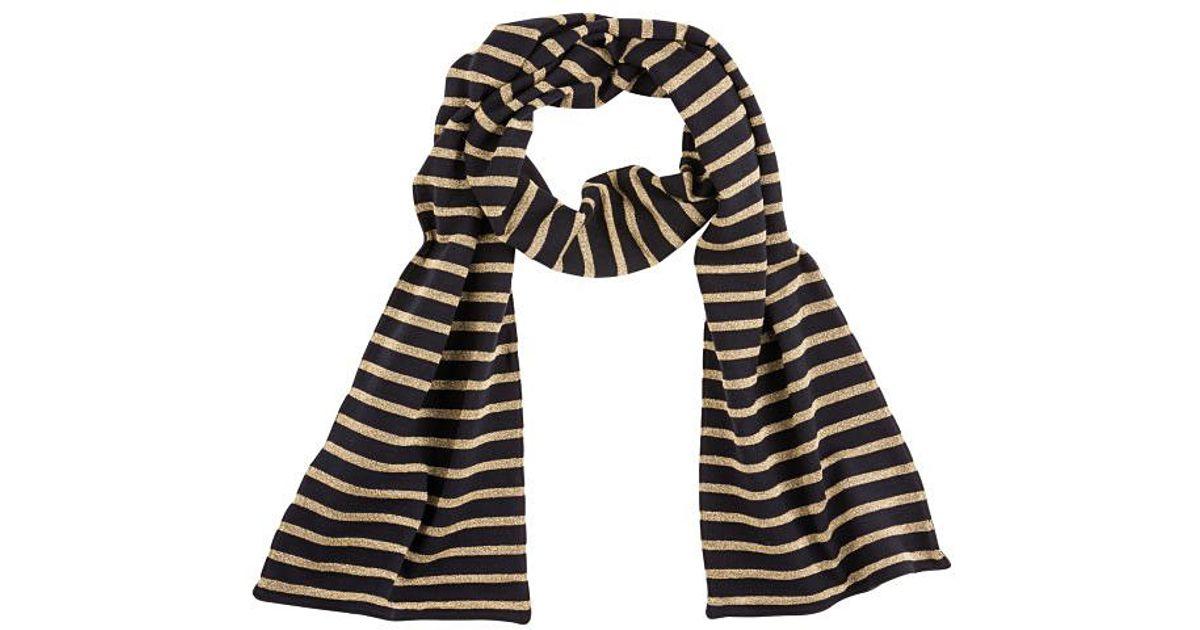 petit bateau s sailor striped scarf in heavy jersey