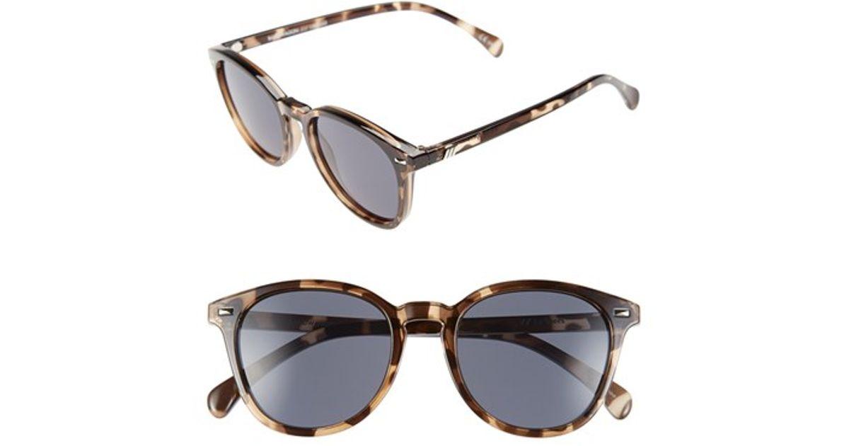 cdf8a4254c Lyst - Le Specs  bandwagon  51mm Sunglasses - Coal Tortoise in Black