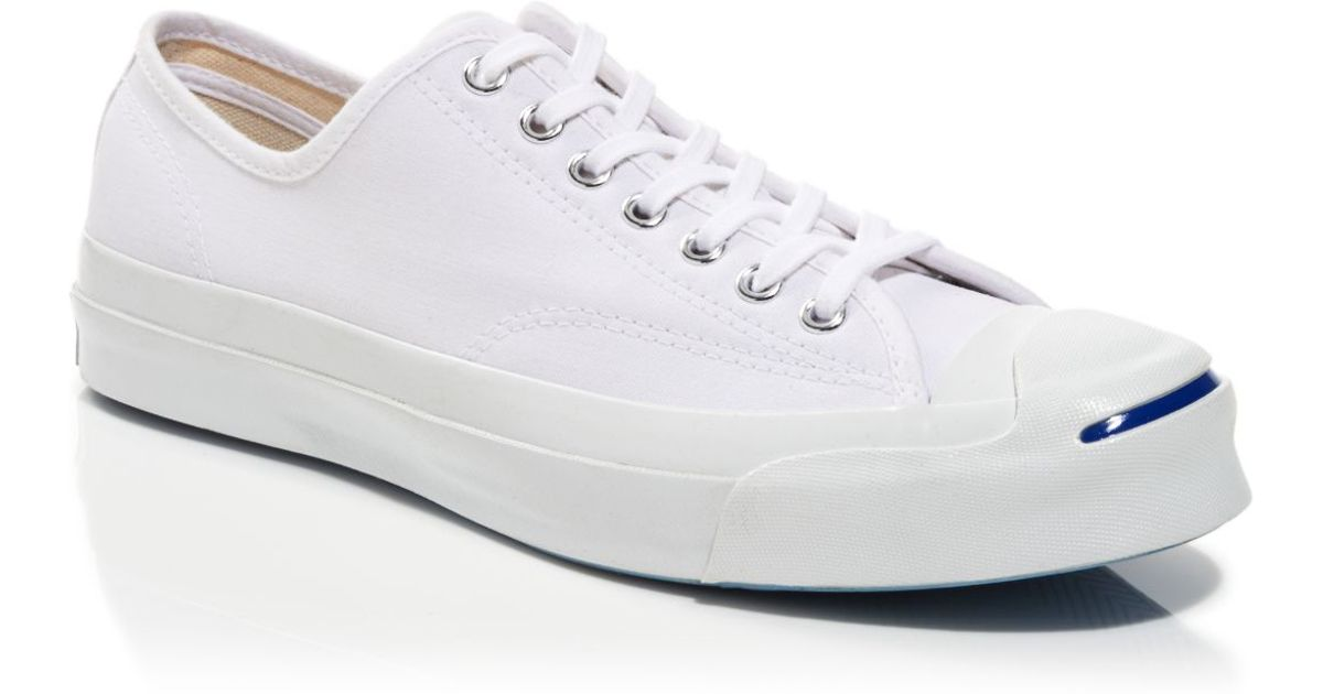7a061e3d4e12 ... coupon for lyst converse jack purcell signature canvas sneakers in  white for men 65cc6 5bed5