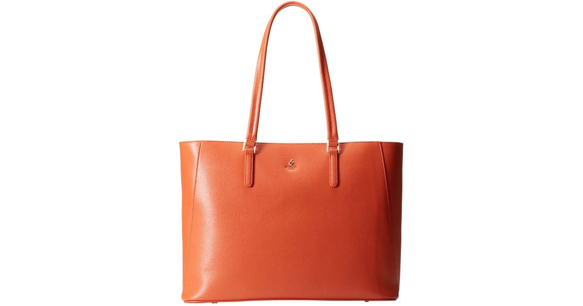 5754432e35 Lyst - Knomo Cavendish Open Tote Bag With Laptop Sleeve in Orange